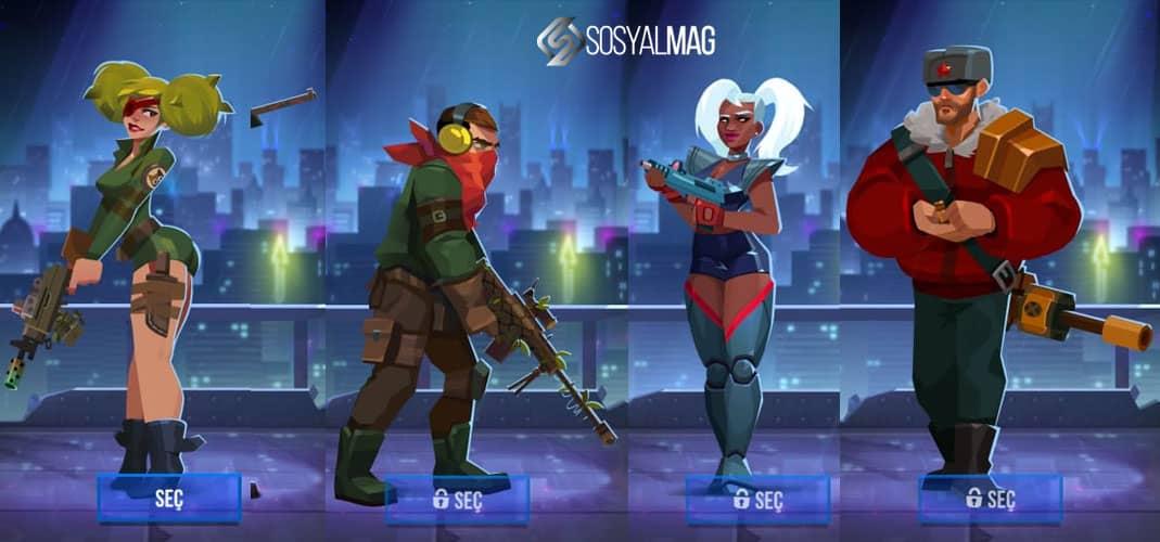 Bullet Echo Karakterleri